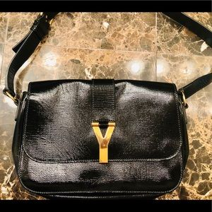 Yves Saint Laurent Patent Leather Shoulder Bag
